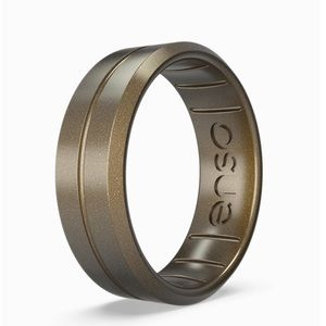NEW Enso CONTOUR SILICONE RING - METEORITE